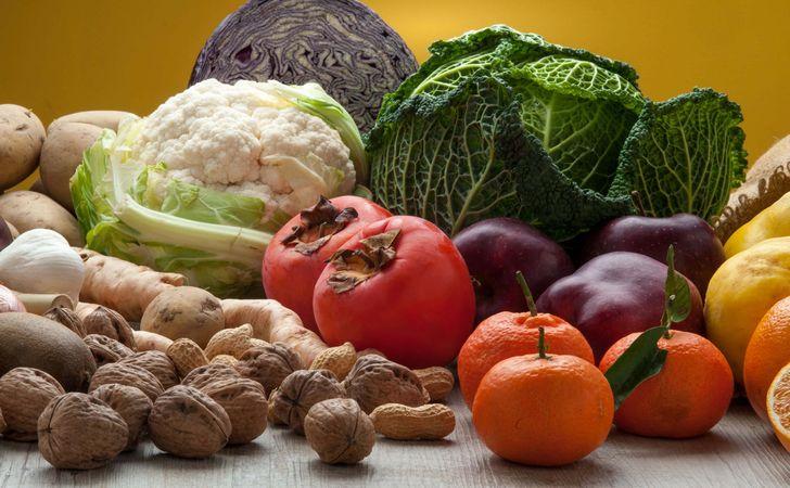 冬の果物と野菜